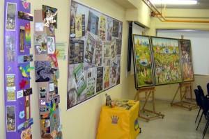 Exposición de trabajos realizados por los alumnos del IES Alpajés en torno al cuadro El Jardín de las Delicias de El Bosco.