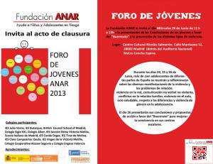 Portada del programa fundación ANAR