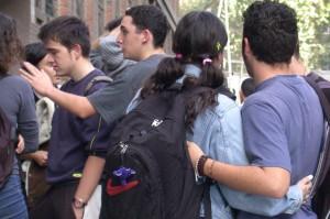 Grupo de alumnos en la calle