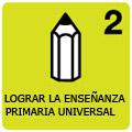 Logotipo dle ODM 2: lograr la enseñanza primaria universal