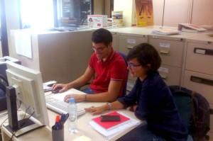 Daniel Machado y Araceli Rodriguez, su preparadora laboral.