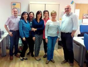 Gema Alises junto al equipo de Innovación y Diversidad del CNIIE