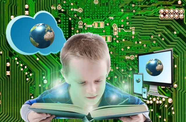 Nube, libro impreso, libro digital