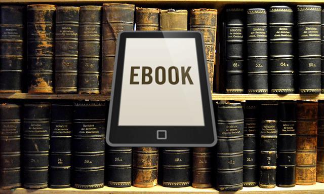 biblioteca con ebook