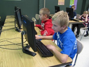children with computers