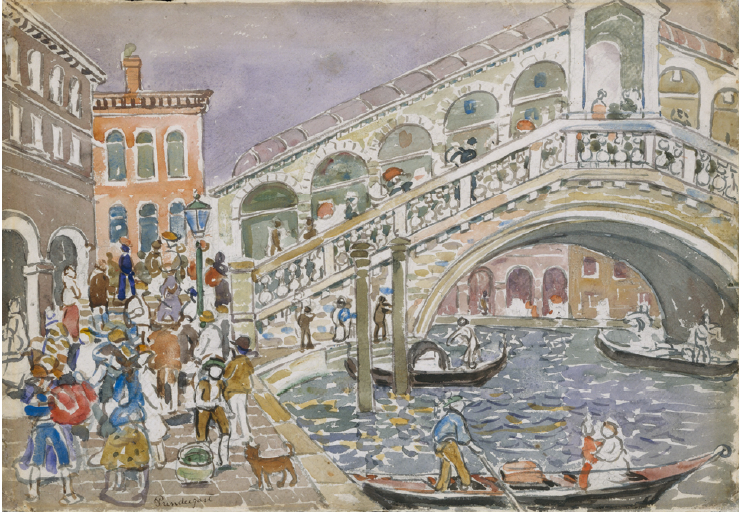 Maurice Brazil Prendergast (1912). Rialto Bridge. The Metropolitan Museum of Art, New York