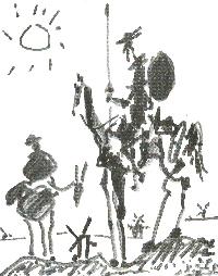 Quijote y Sancho Picasso