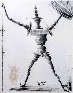 Don Quijote de Salvador Dalí. Fuente: QBI.