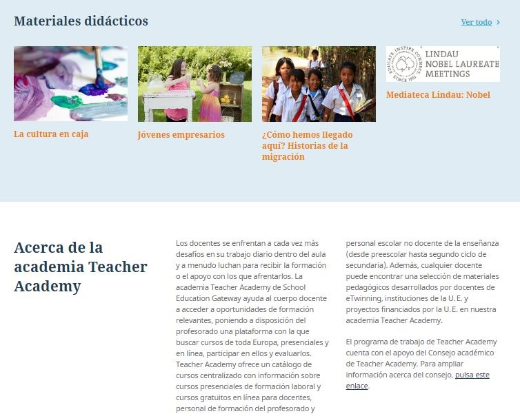 5 materiales teacher academy