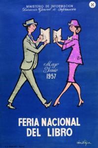 Cartel Feria del libro 1954