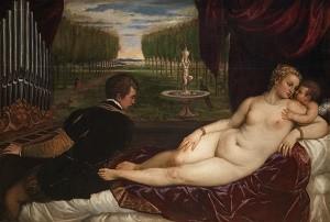 Venus recreándose con el Amor y la Música