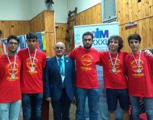 Fotografía de los alumnos premiados en la Olimpiada Iberoamericana de Matemáticas 2017