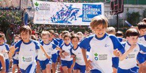 Niños corriendo La carrera contra el Hambre