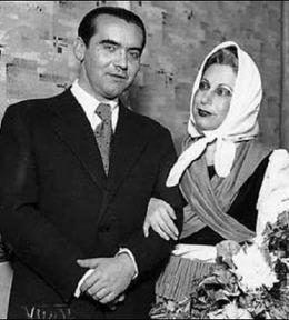 Federico García Lorca y Margarita Xirgu