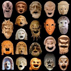 Imagen máscaras griegas